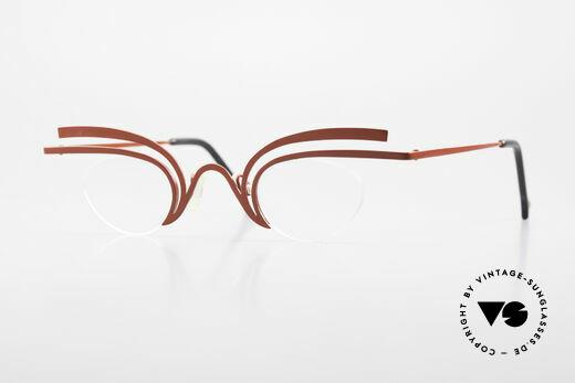 Theo Belgium Fly Verrückte Vintage Brille Damen Details