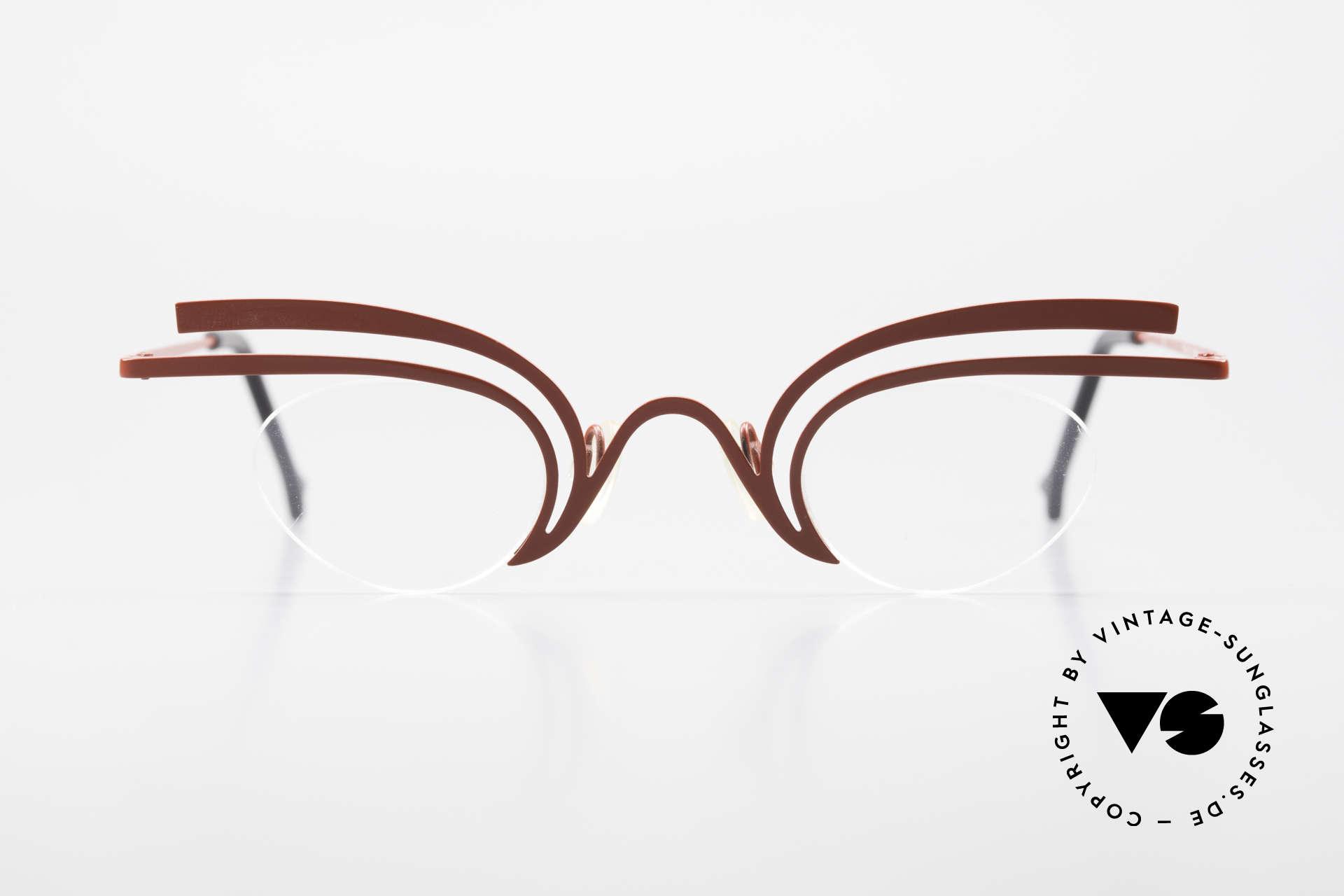 Theo Belgium Fly Verrückte Vintage Brille Damen, tolle Damen-Designerbrille, entzückend schwungvoll, Passend für Damen