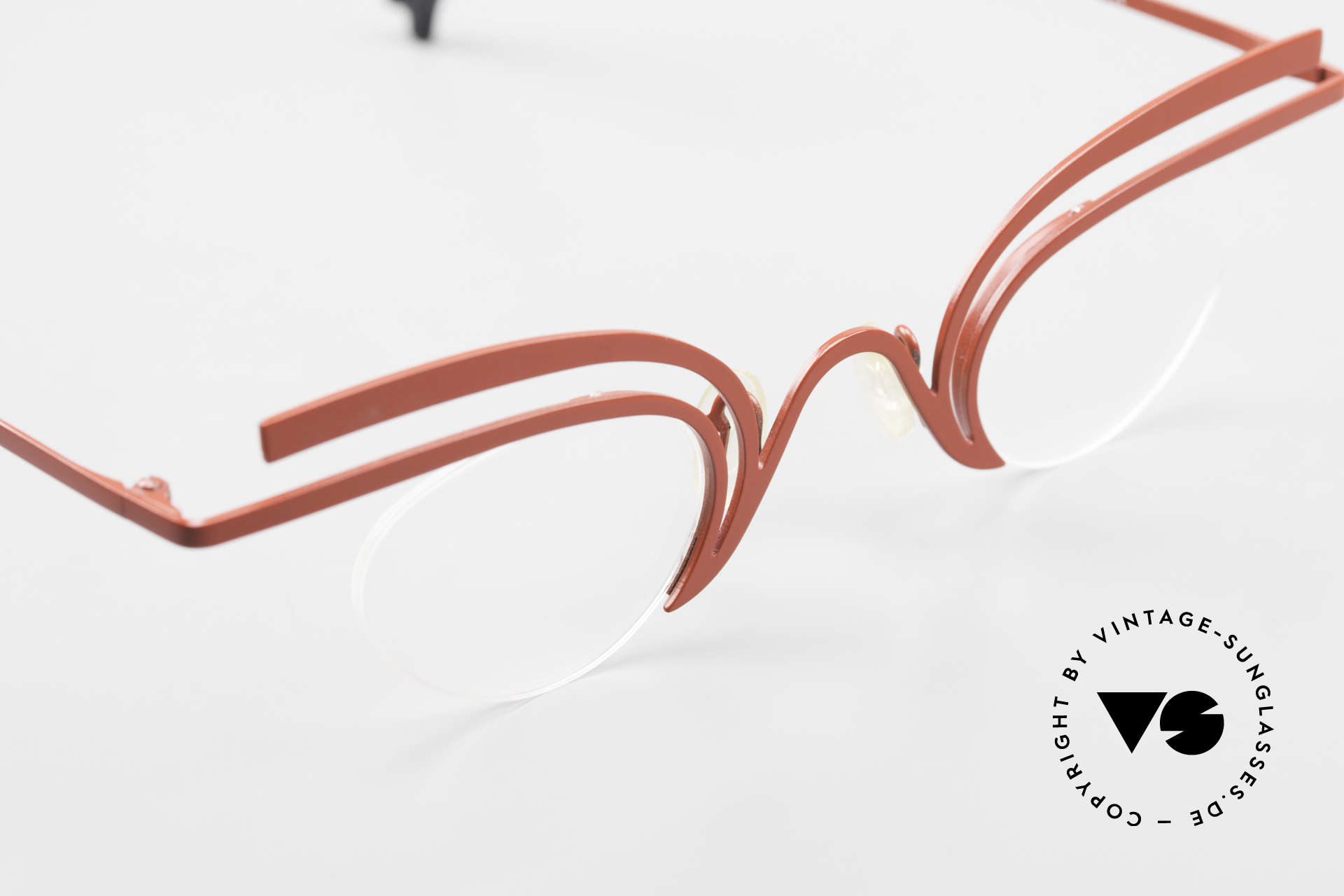 Theo Belgium Fly Verrückte Vintage Brille Damen, KEINE RETRObrille, sondern ein 20 Jahre altes Unikat, Passend für Damen