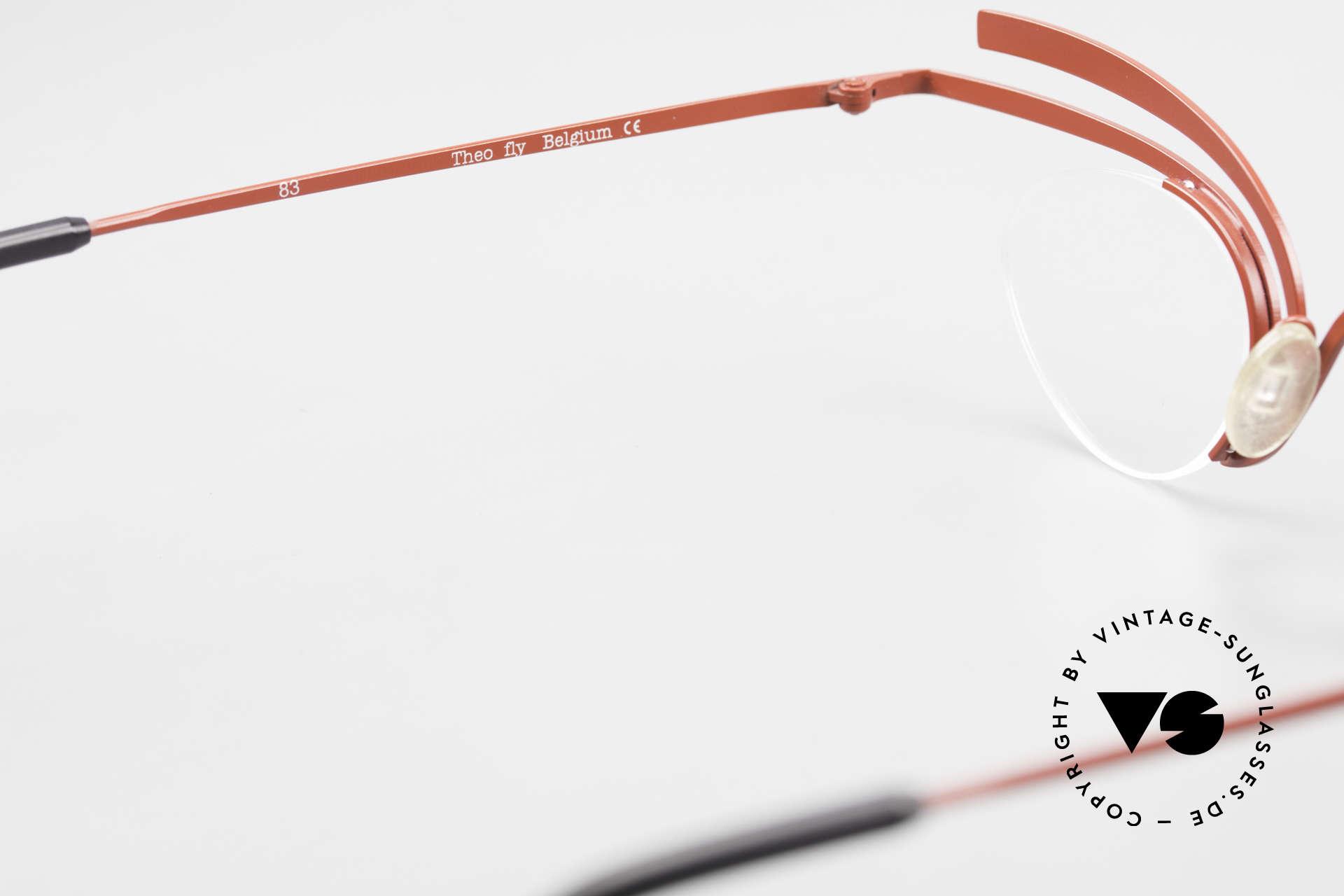Theo Belgium Fly Verrückte Vintage Brille Damen, die Demogläser können durch optische ersetzt werden, Passend für Damen