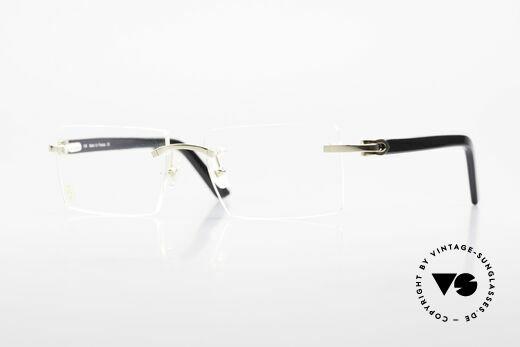 Cartier Canazei Ranlose Luxus Brille Eckig Details