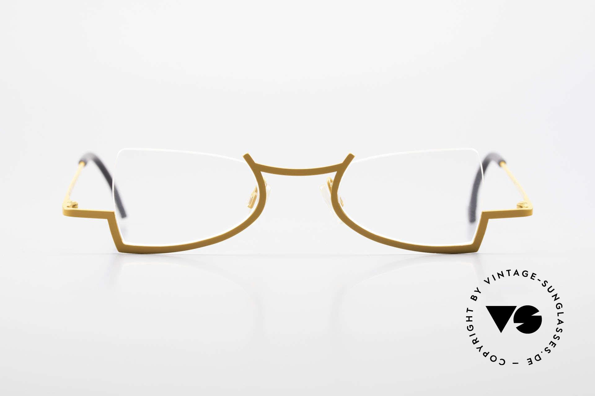 Theo Belgium Kyuu Titanium Lesebrille Damen 90s, tolle Damen-Designerbrille, entzückend schwungvoll, Passend für Damen