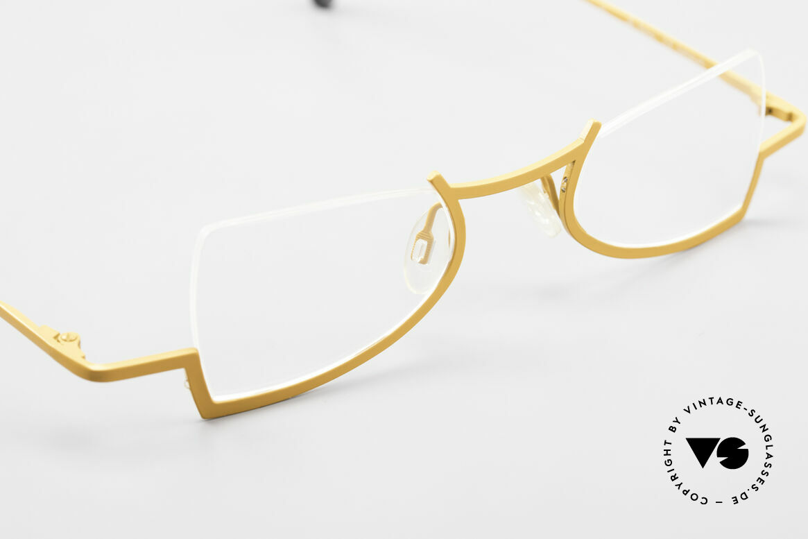Theo Belgium Kyuu Titanium Lesebrille Damen 90s, KEINE RETRObrille, sondern ein 25 Jahre altes Unikat, Passend für Damen