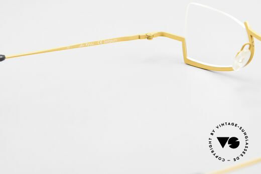 Theo Belgium Kyuu Titanium Lesebrille Damen 90s, die Demogläser sollten durch optische ersetzt werden, Passend für Damen