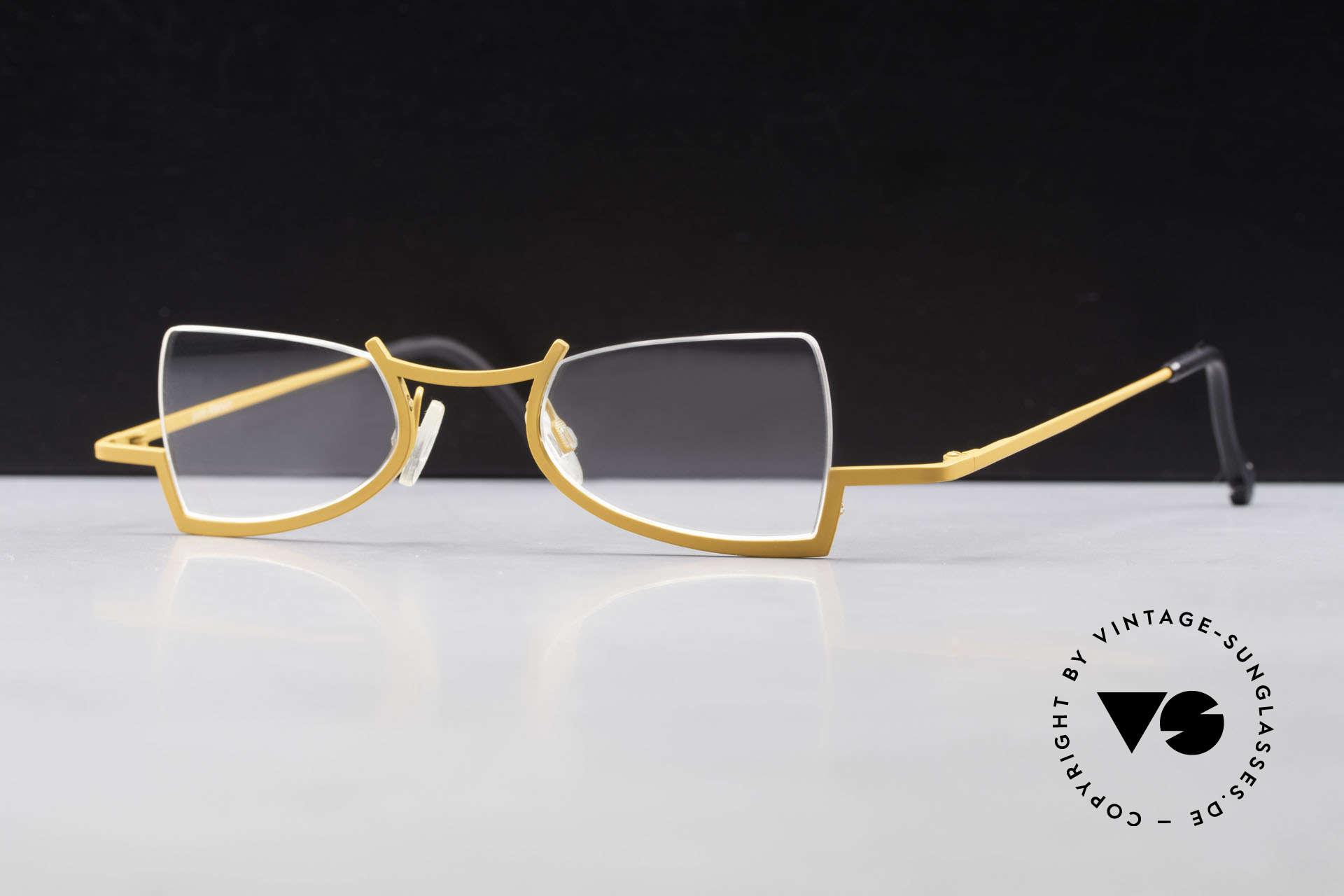 Theo Belgium Kyuu Titanium Lesebrille Damen 90s, verrückte 90er Jahre Lese-Brille von THEO Belgium, Passend für Damen