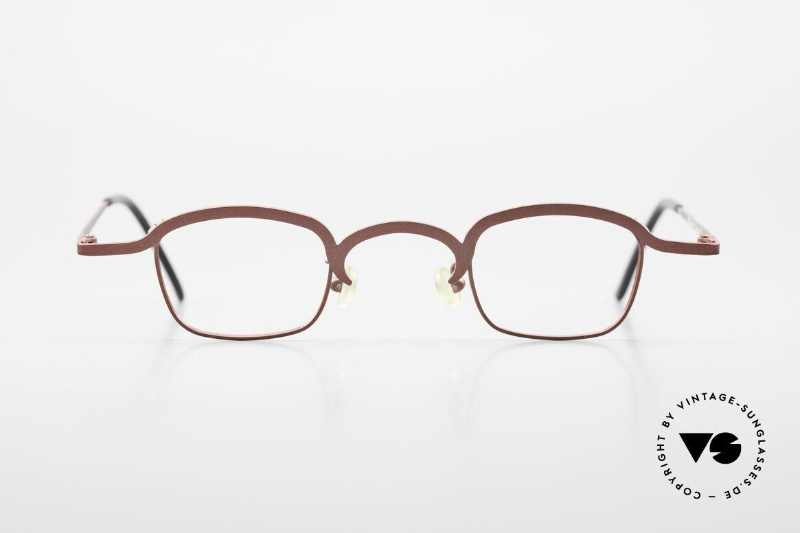 Theo Belgium Armes Vollrandfassung Metall Brille, 'Theo' bekannt als Gegenpol zum üblich 'Mainstream', Passend für Herren und Damen