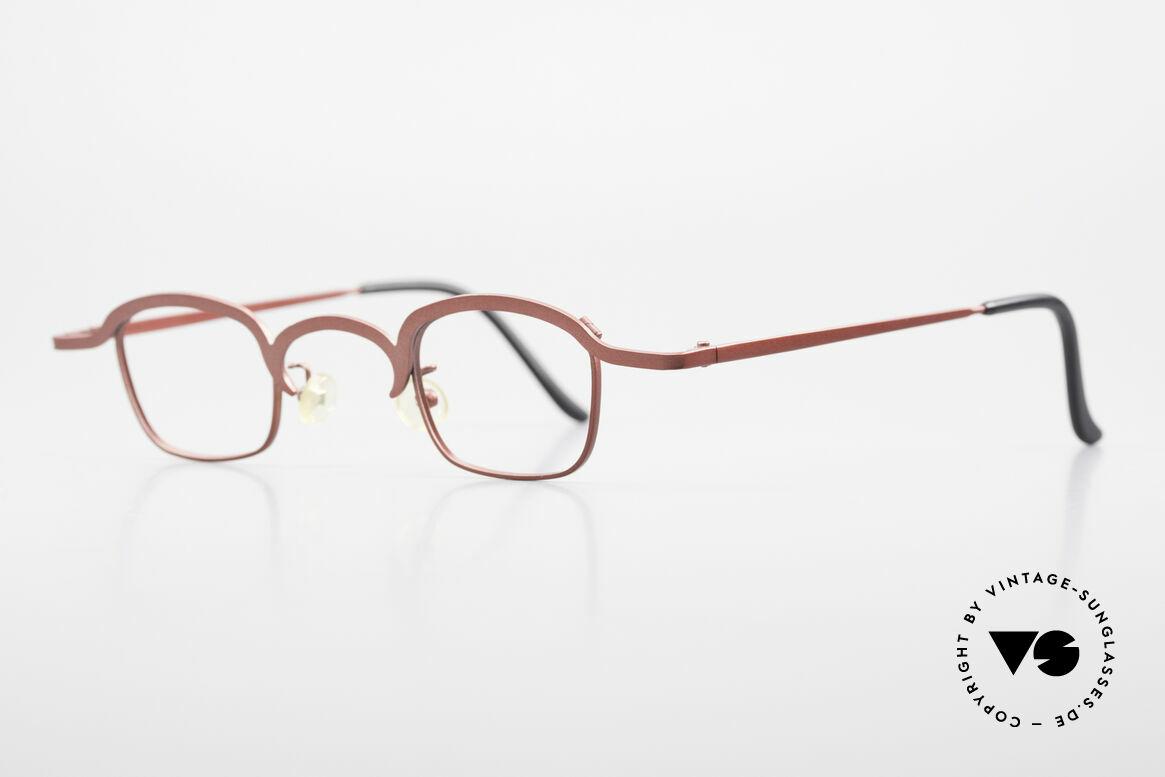 Theo Belgium Armes Vollrandfassung Metall Brille, gemacht für die 'Avantgarde' und für Individualisten, Passend für Herren und Damen
