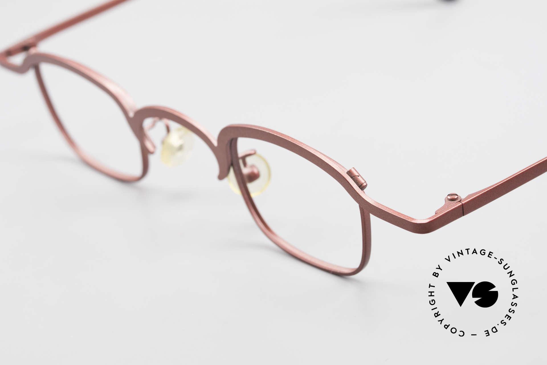 Theo Belgium Armes Vollrandfassung Metall Brille, Vollrand Metall-Fassung in absoluter TOP-Qualität!, Passend für Herren und Damen