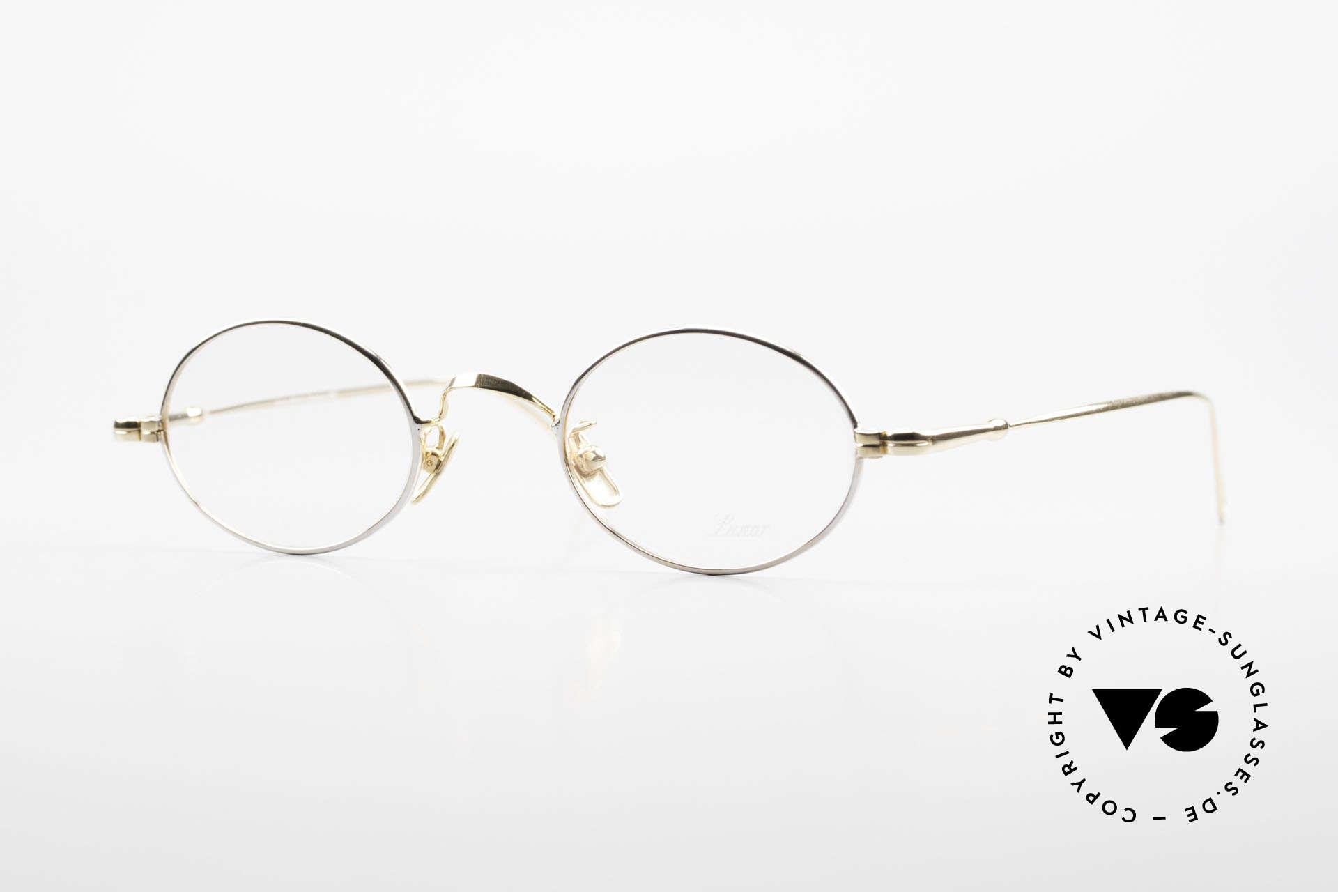 Lunor V 100 Ovale Lunor Brille Bicolor, LUNOR = ehrliches Handwerk mit Liebe zum Detail, Passend für Herren und Damen