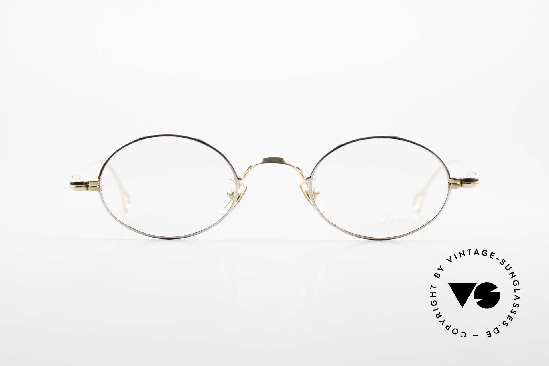 Lunor V 100 Ovale Lunor Brille Bicolor, ohne große Logos; stattdessen in zeitloser Eleganz, Passend für Herren und Damen