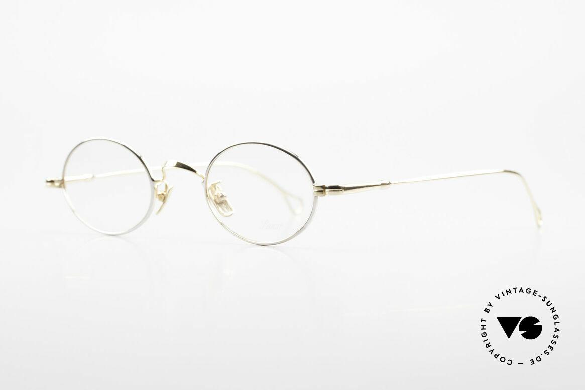 Lunor V 100 Ovale Lunor Brille Bicolor, Modell V 100: ovale Brillenform, Vollrand (Unisex), Passend für Herren und Damen