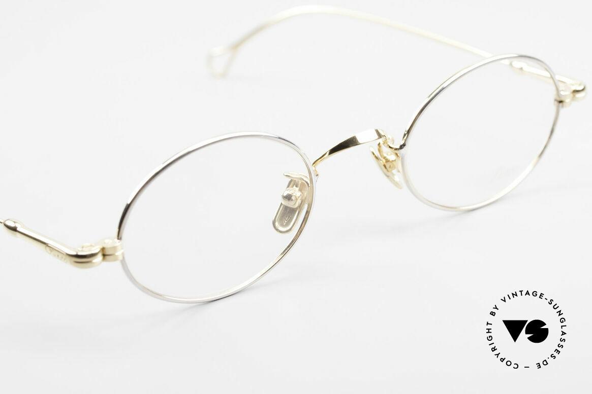 Lunor V 100 Ovale Lunor Brille Bicolor, ungetragenes ORIGINAL (mit den Titan-Nasenpads), Passend für Herren und Damen