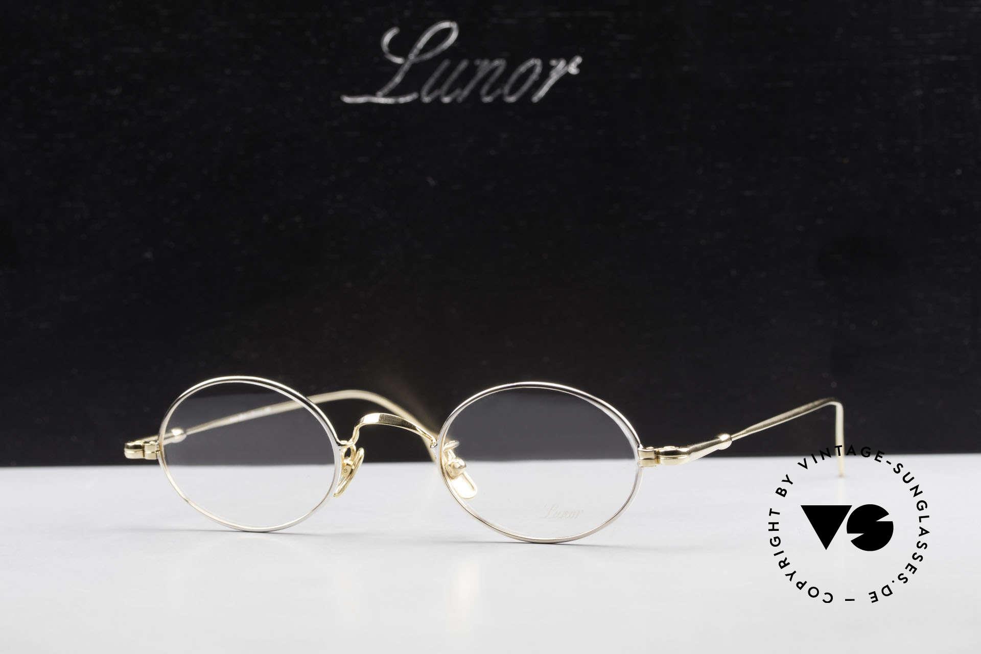 Lunor V 100 Ovale Lunor Brille Bicolor, Größe: medium, Passend für Herren und Damen