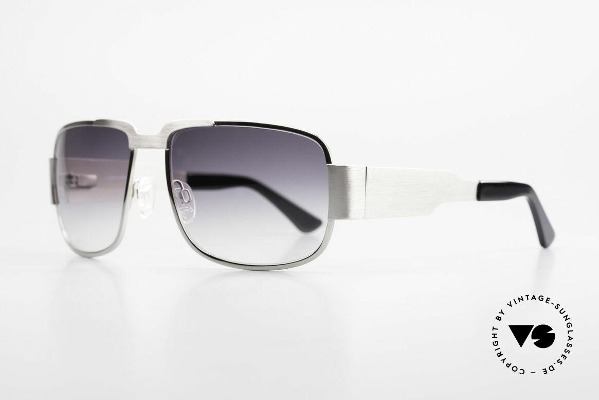 Neostyle Nautic 2 Elvis Presley Sonnenbrille, sehr massive Metallfassung mit flexiblen Federscharniere, Passend für Herren