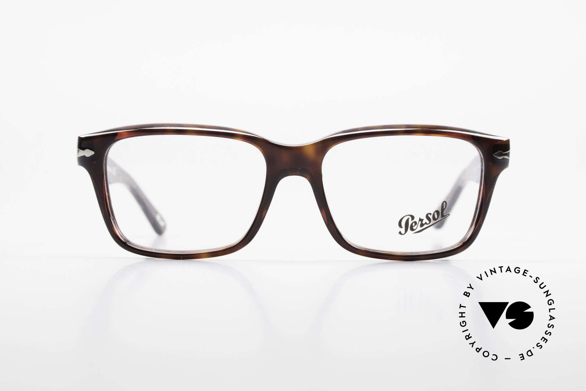 Persol 2895 Klassisch Zeitlose Unisex Brille, klassische Brillenform in einem zeitlosen Design, Passend für Herren und Damen