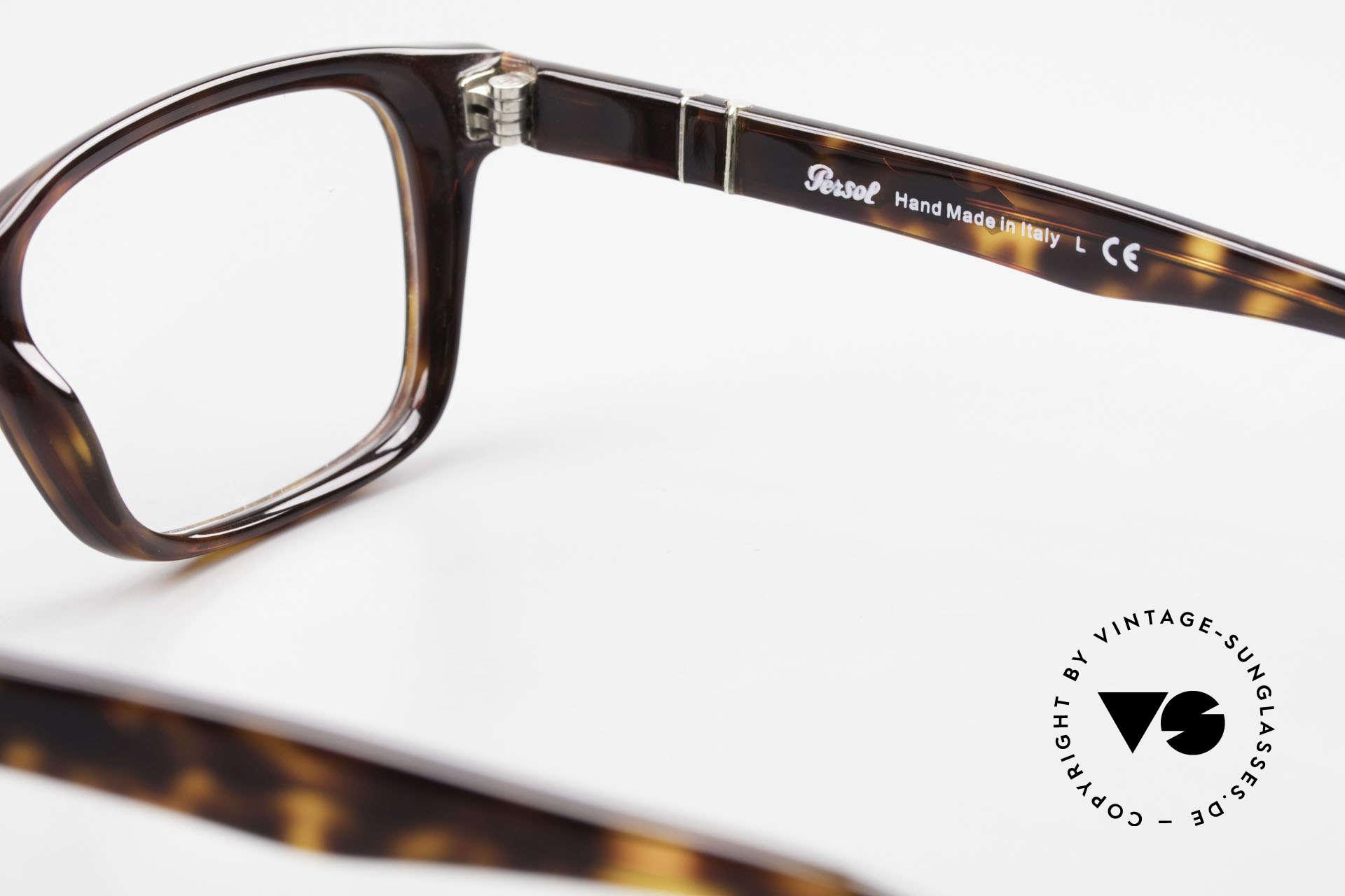 Persol 2895 Klassisch Zeitlose Unisex Brille, Rahmen ist beliebig verglasbar (optisch od. Sonne), Passend für Herren und Damen