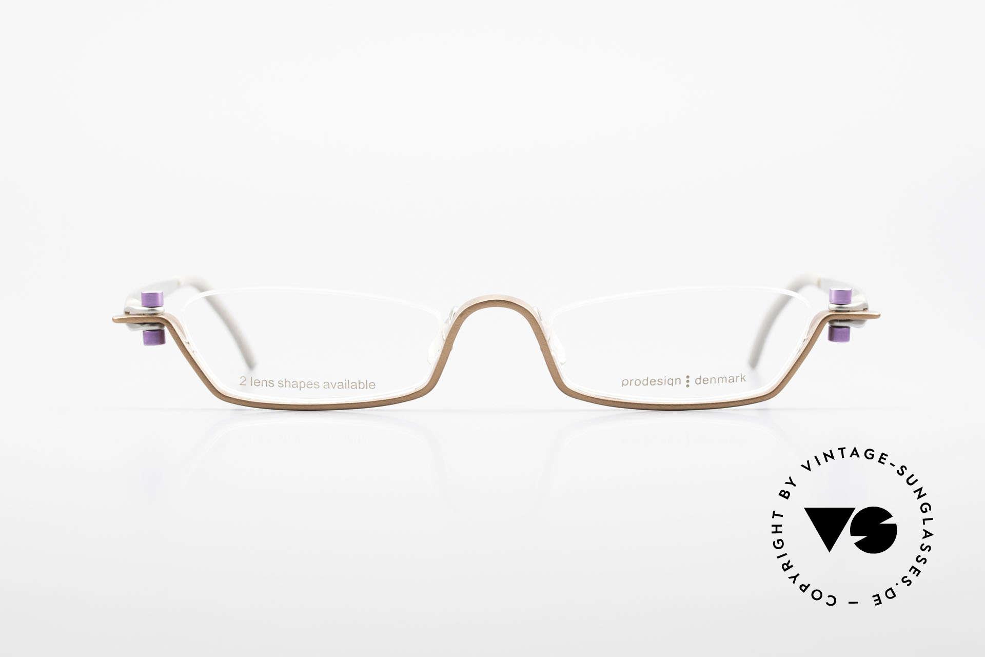 ProDesign 9901 Designer Brille Gail Spence, vintage Aluminium Rahmen im Gail Spence Design, Passend für Herren und Damen