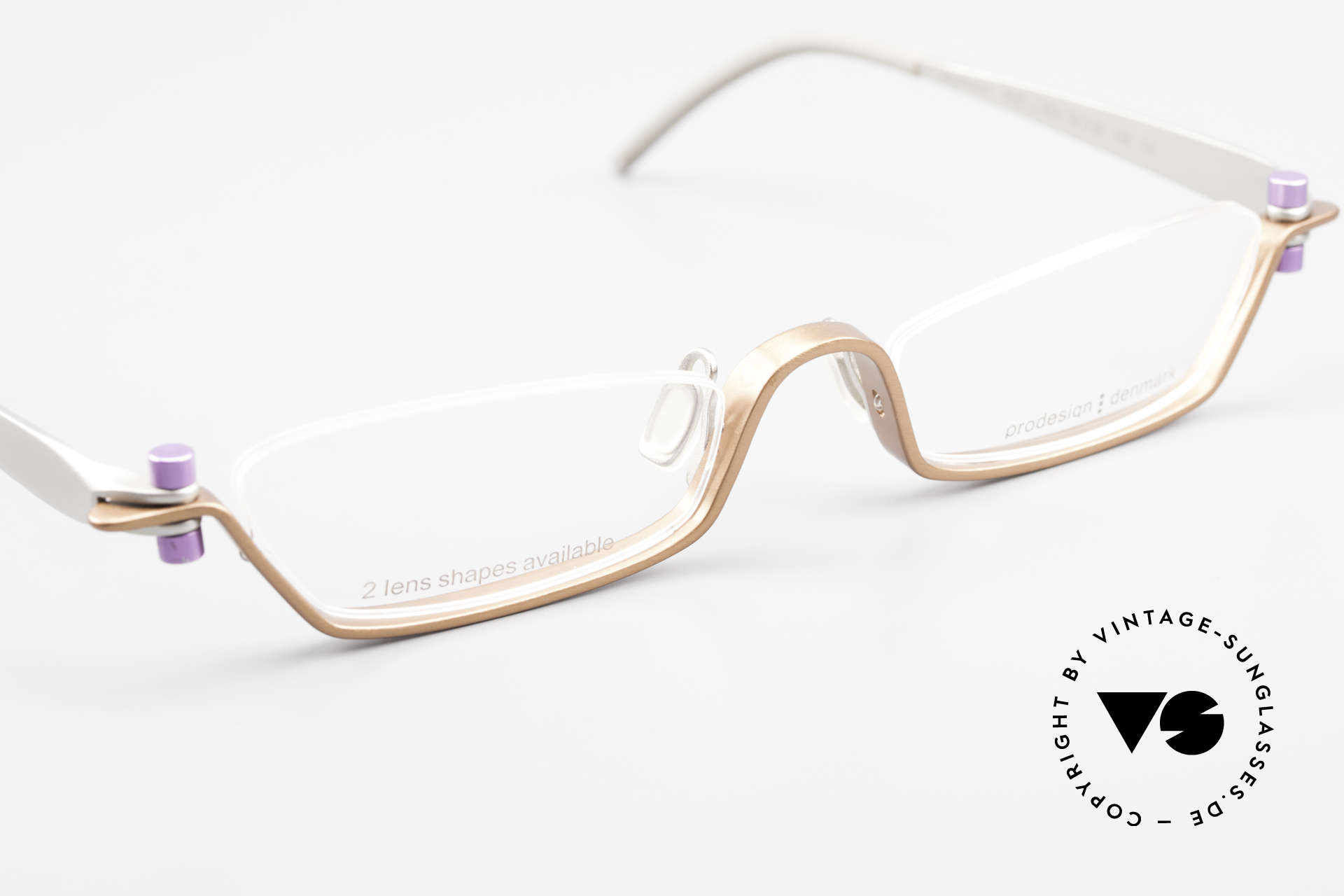 ProDesign 9901 Designer Brille Gail Spence, grandioses Einzelstück; nicht nur für Filmliebhaber, Passend für Herren und Damen