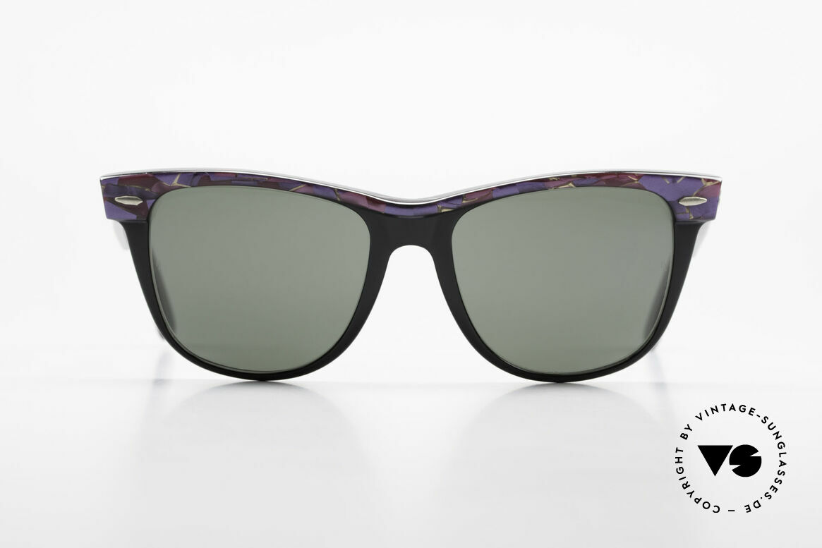 Ray Ban Wayfarer II Original Mosaic Wayfarer B&L, Bausch & Lomb Qualitätsgläser (100% UV-Schutz), Passend für Herren und Damen