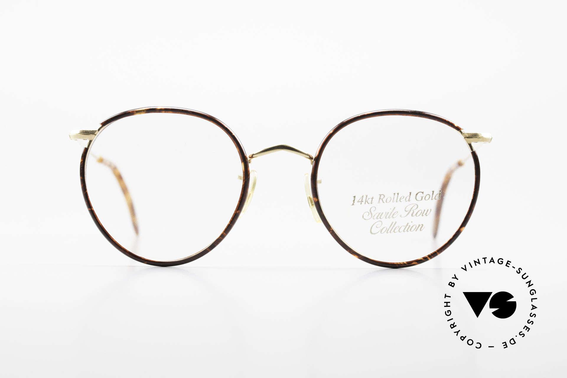 Savile Row Panto 49/20 Johnny Depp Brille Panto, klassisch runde vintage Panto-Brille aus den 80ern, Passend für Herren