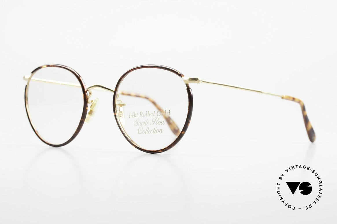 Savile Row Panto 49/20 Johnny Depp Brille Panto, allerfeinste Fertigungsqualität (14kt Rolled GOLD), Passend für Herren