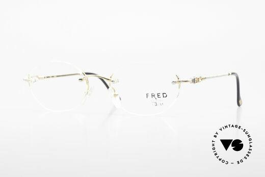 Fred Fidji Luxus Brille Randlos Segler Details