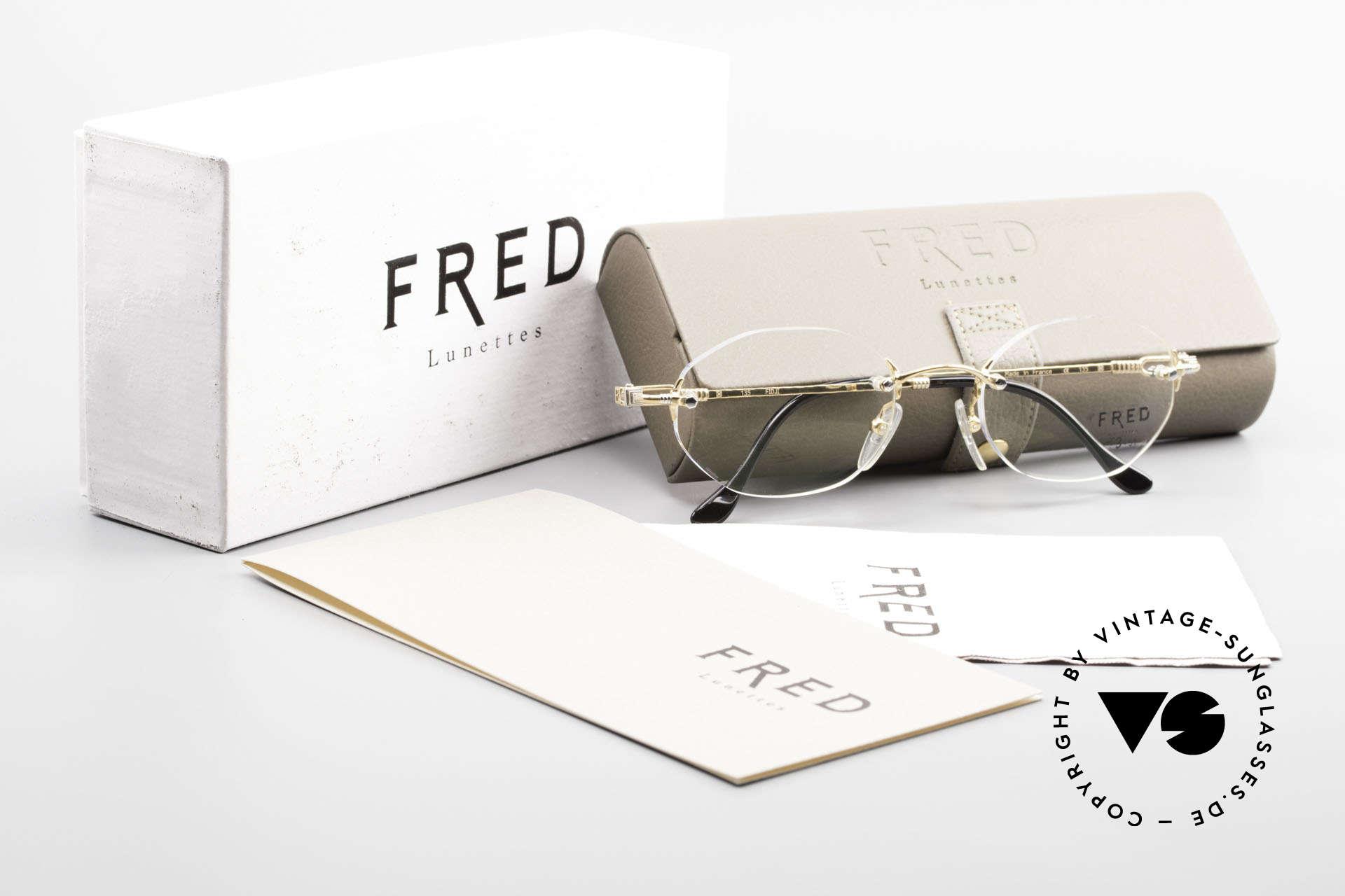 Fred Fidji Luxus Brille Randlos Segler, ungetragenes Original mit original Verpackung von Fred, Passend für Herren und Damen