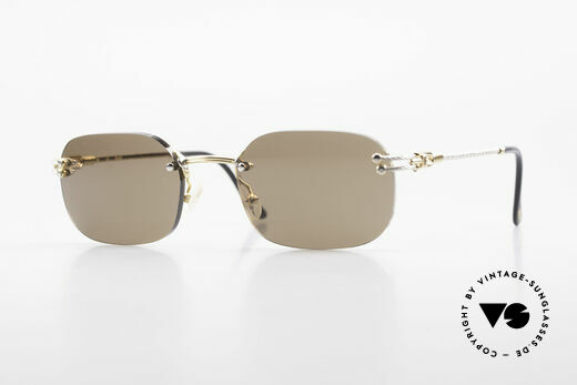 Fred Orcade Randlose Luxus Sonnenbrille Details