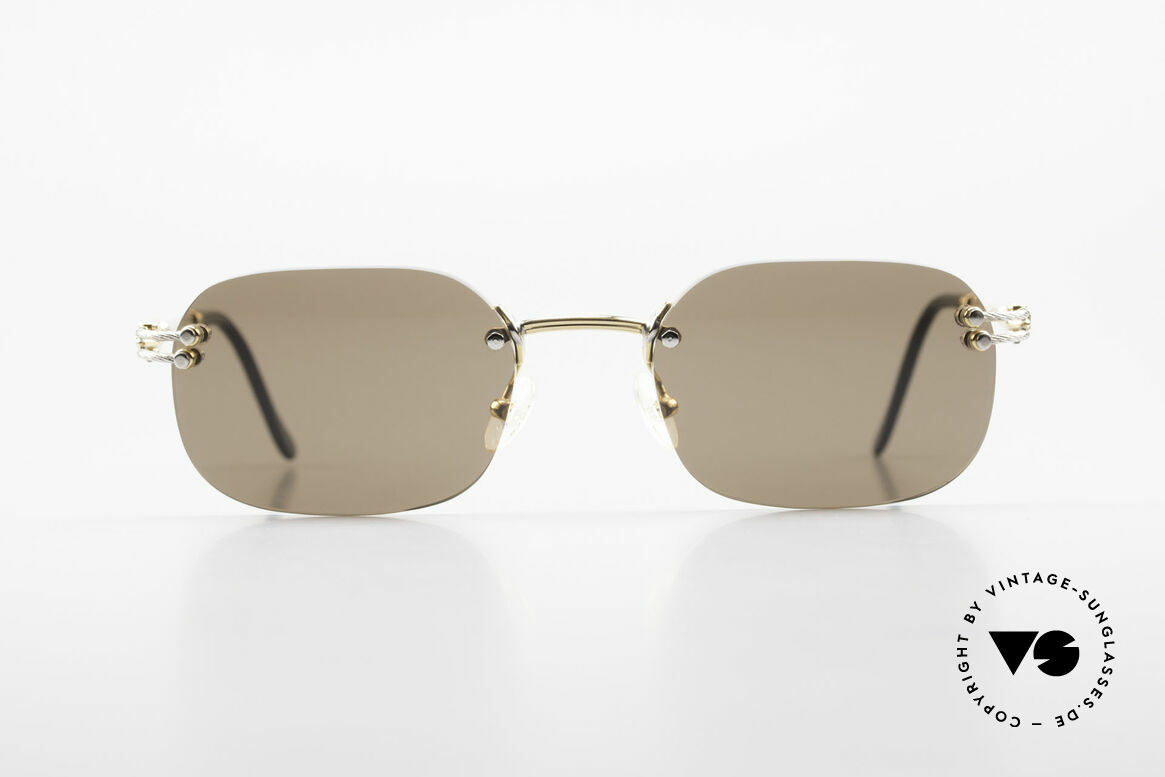 Fred Orcade Randlose Luxus Sonnenbrille, Fred Brille, Modell Orcade, 54-20 mit Sonnengläsern, Passend für Herren
