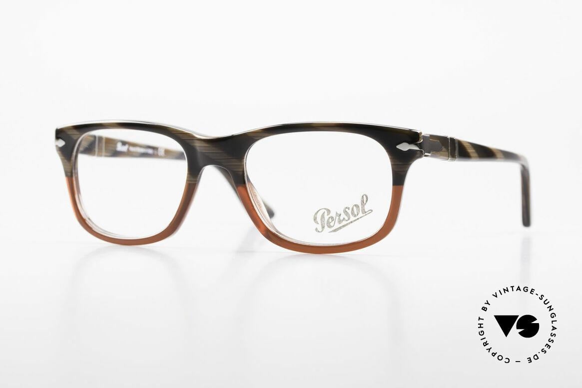 Persol 3029 Kleine Persol Brille Unisex, Persol Brille, Modell 3029 in SMALL Größe 50-19, Passend für Herren und Damen