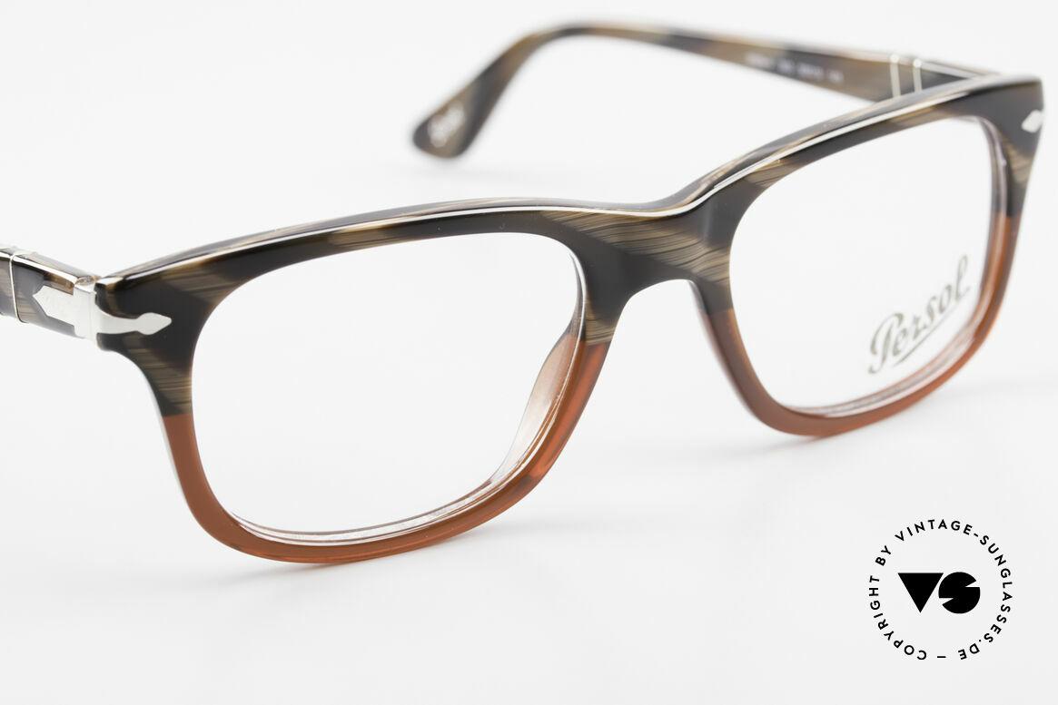 Persol 3029 Kleine Persol Brille Unisex, eine Neuauflage der alten Brillen von Persol Ratti, Passend für Herren und Damen