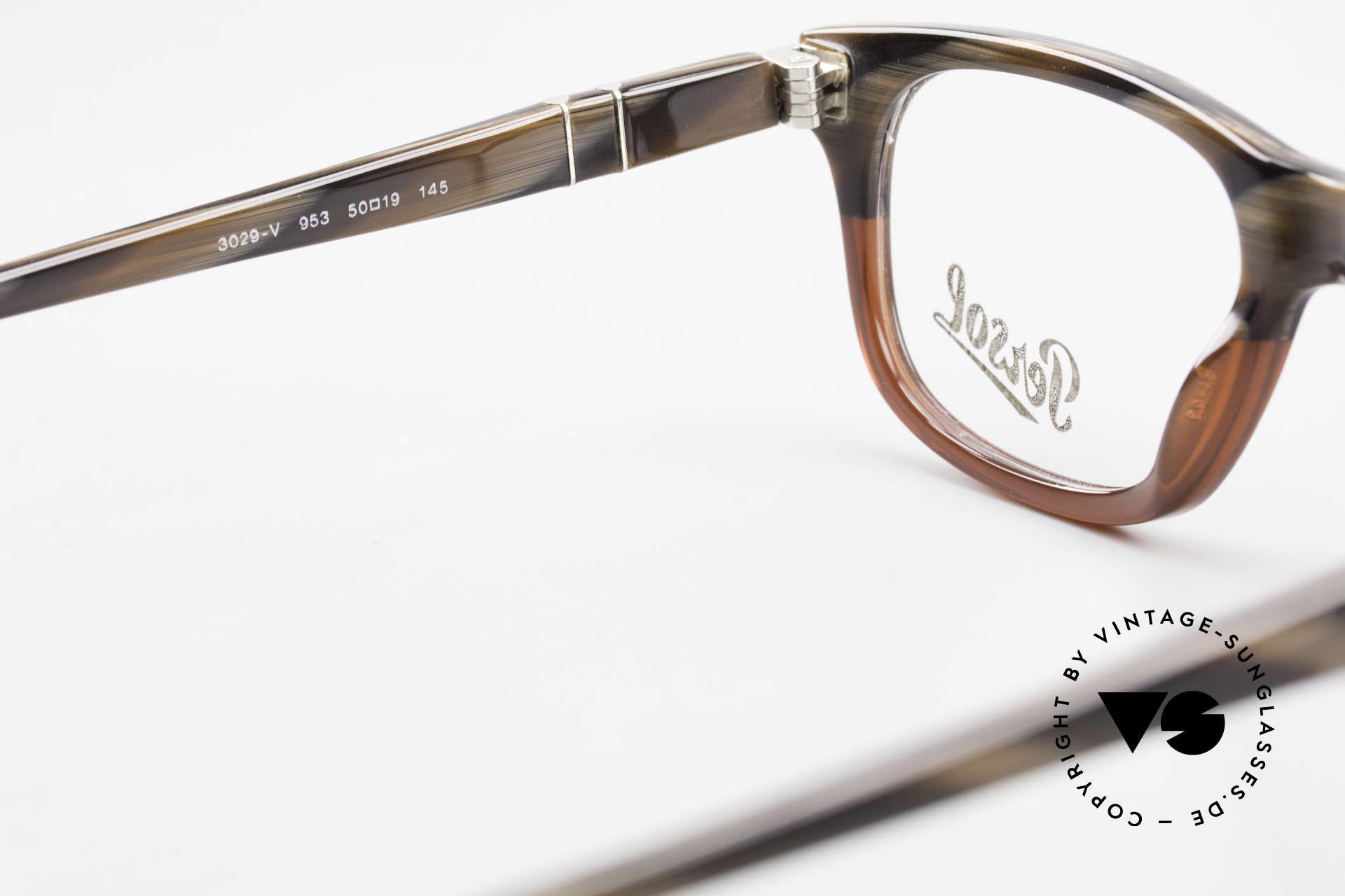 Persol 3029 Kleine Persol Brille Unisex, Unisex-Modell, daher passend für Damen & Herren, Passend für Herren und Damen