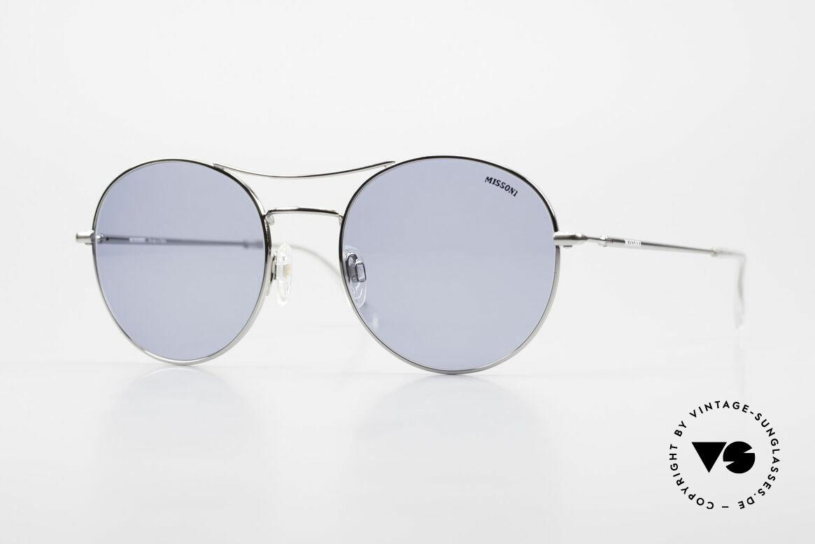 Missoni 0439 Round Aviator Sonnenbrille, MISSONI 0439 Sonnenbrille, silber chrome, 53-20, Passend für Herren und Damen