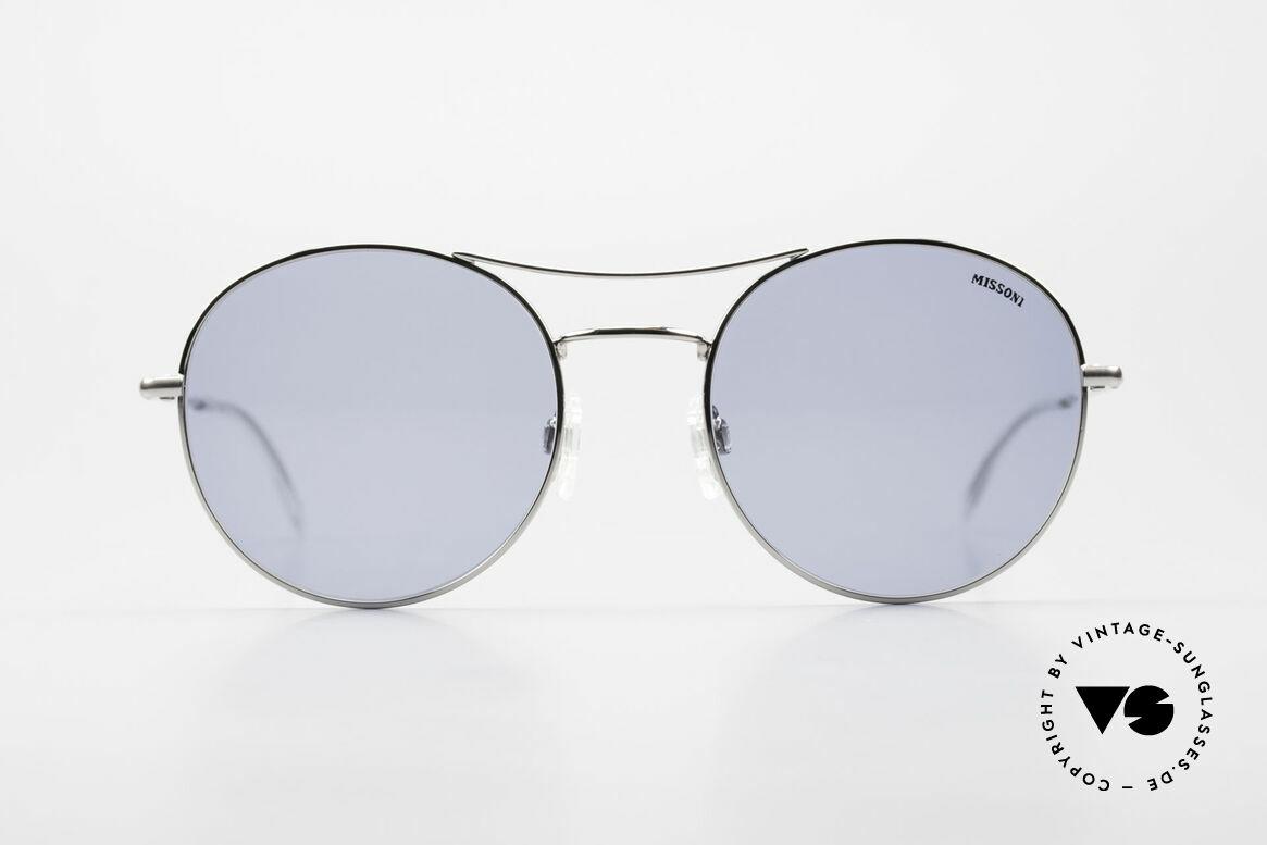 Missoni 0439 Round Aviator Sonnenbrille, außergewöhnliche Aviator-Stil Unisex-Sonnenbrille, Passend für Herren und Damen