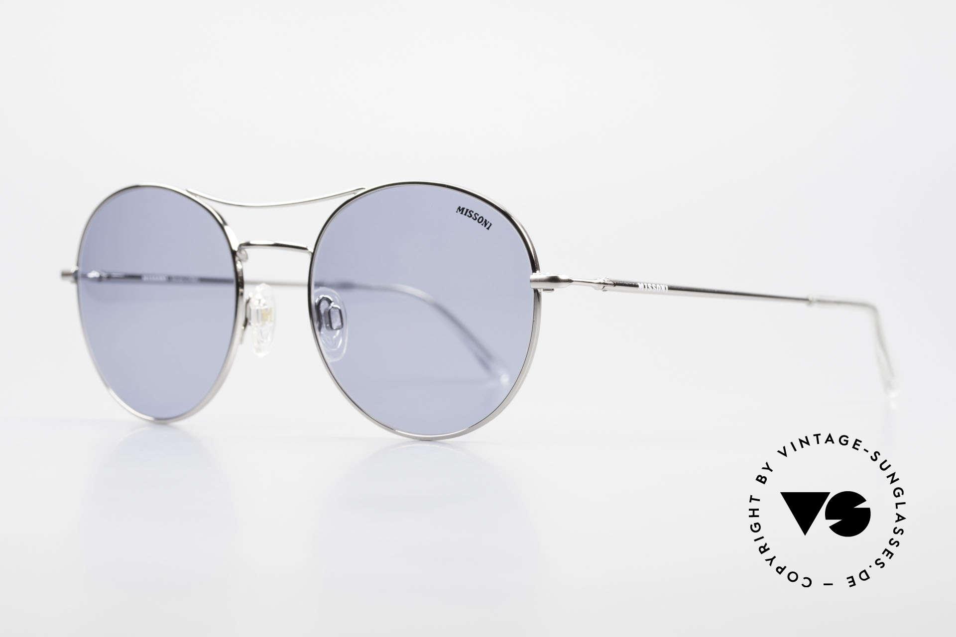 Missoni 0439 Round Aviator Sonnenbrille, absolute Top-Qualität & Passform (Federscharniere), Passend für Herren und Damen