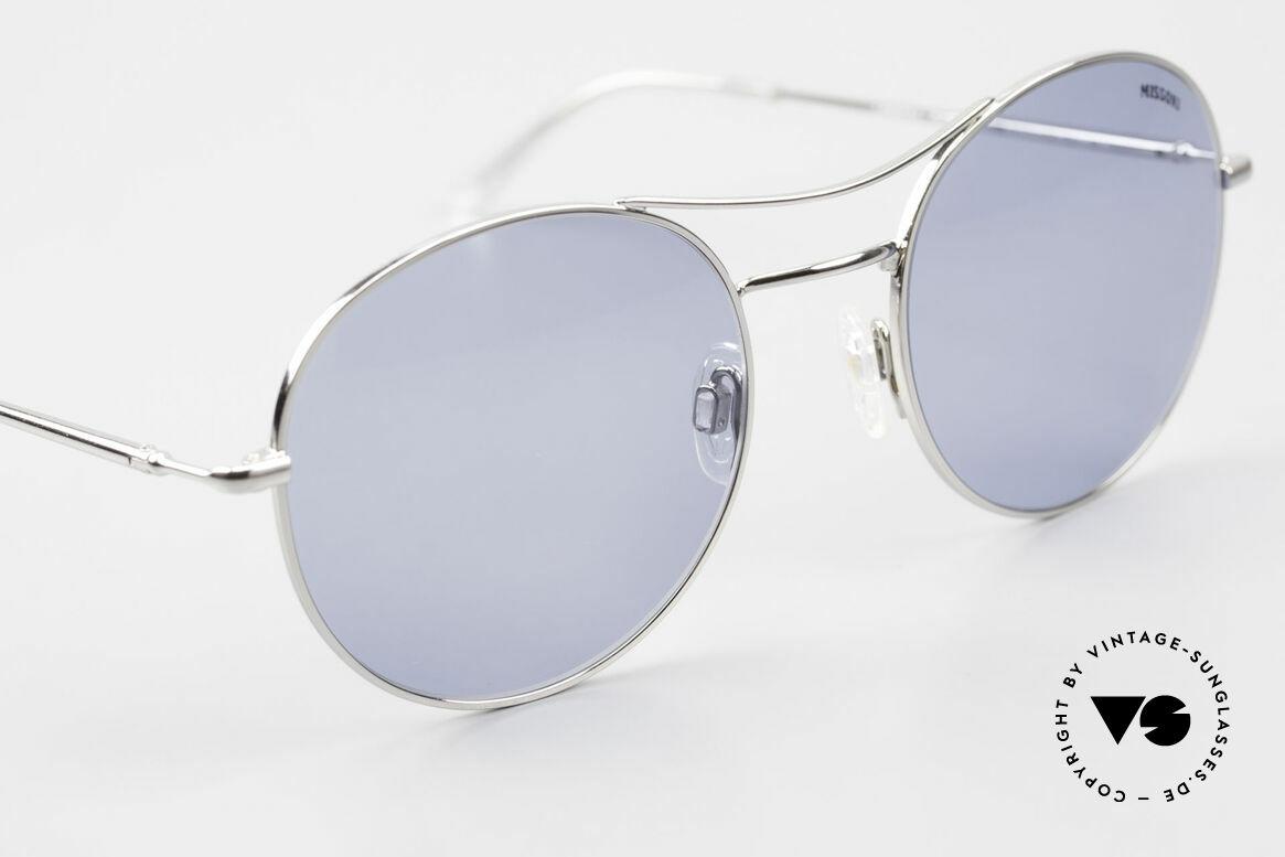 Missoni 0439 Round Aviator Sonnenbrille, ungetragen (wie alle unsere MISSONI Sonnenbrillen), Passend für Herren und Damen