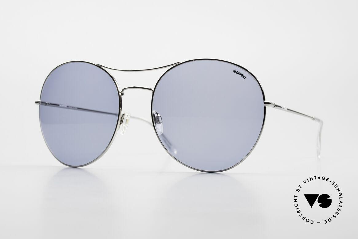 Missoni 0440 90er XXL Aviator Sonnenbrille, riesengroße MISSONI XXL Sonnenbrille, Größe 67-20, Passend für Herren und Damen