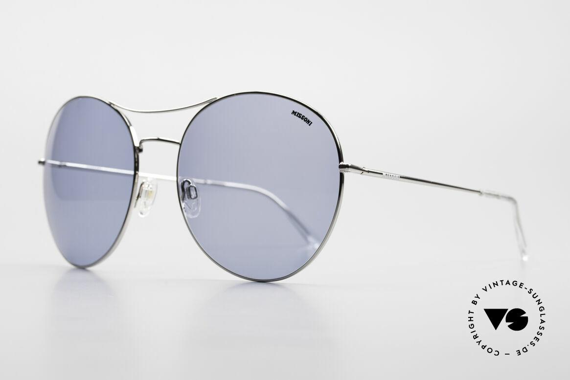 Missoni 0440 90er XXL Aviator Sonnenbrille, absoluter Hingucker; top Passform (Federscharniere), Passend für Herren und Damen