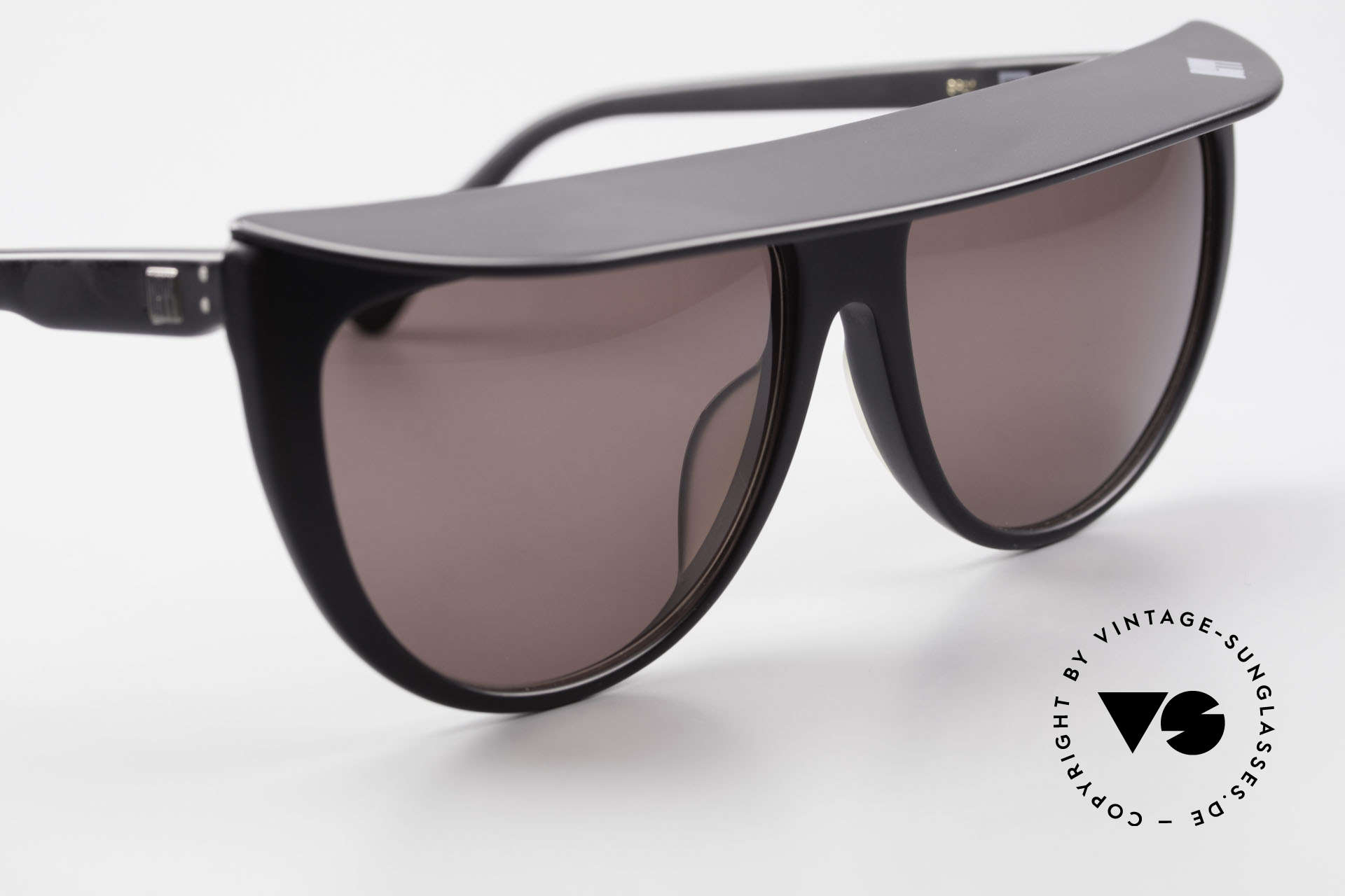 Ugppi 9801 Markisen Sonnenbrille 90er, die Fassung könnte ggf. auch optisch verglast werden, Passend für Herren und Damen