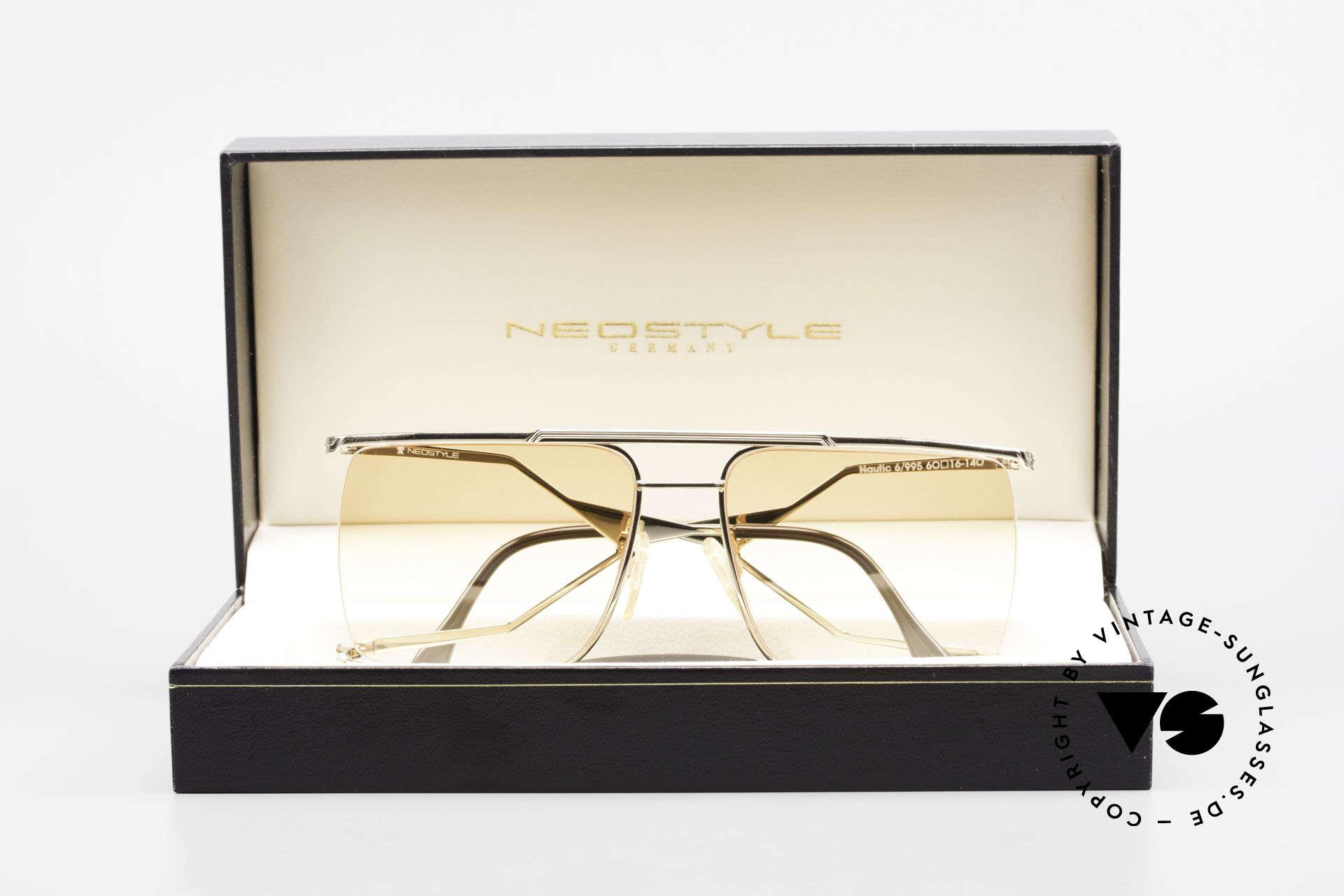 Neostyle Nautic 6 Miami Vice Vintage Brille 80er, Größe: large, Passend für Herren