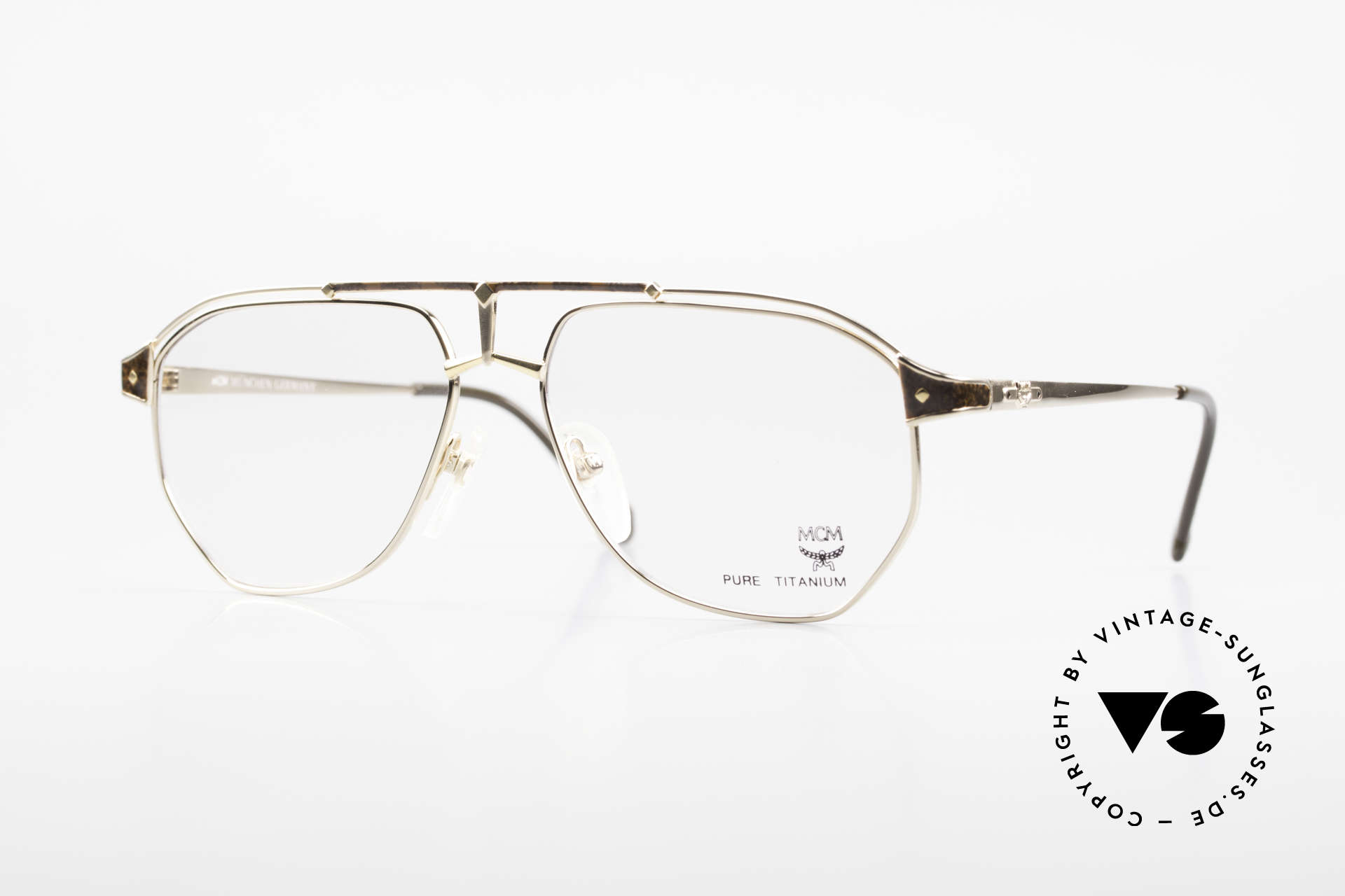 MCM München 6 XL Luxus Vintage Brille 90er, extra große MCM Designer-Brille aus den 90ern, Passend für Herren