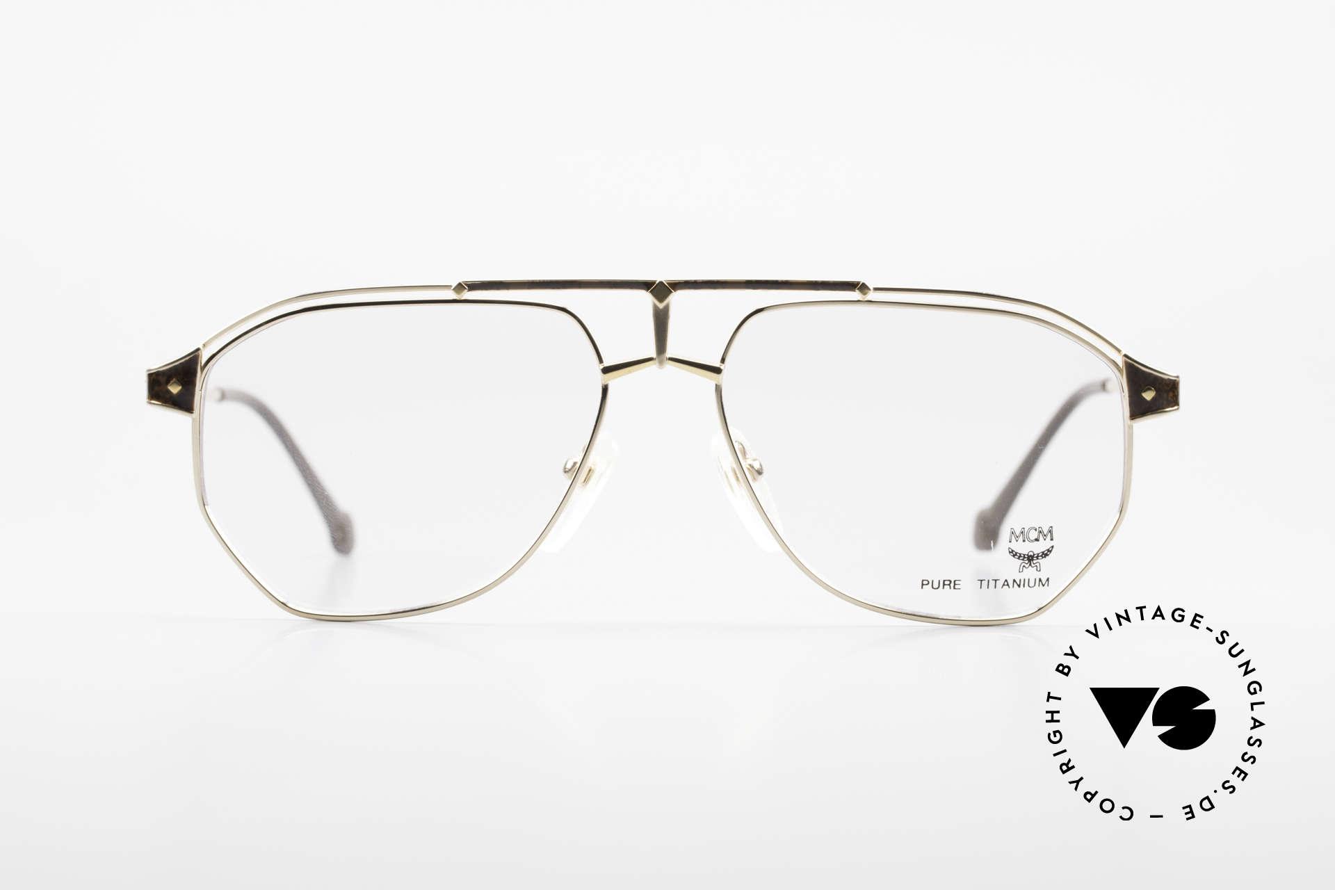 MCM München 6 XL Luxus Vintage Brille 90er, modifizierte Pilotenform in 150mm Breite = XXL, Passend für Herren