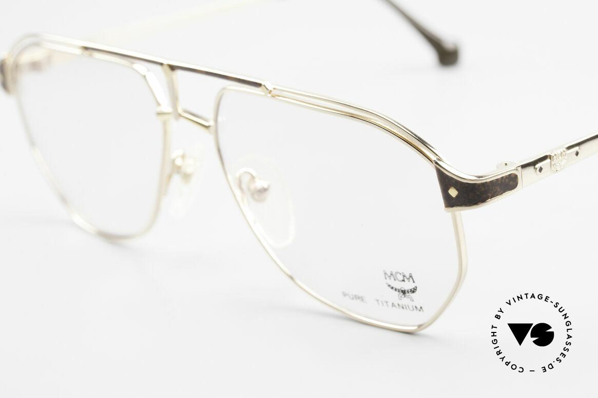 MCM München 6 XL Luxus Vintage Brille 90er, edle Fassung mit Seriennummer in Top-Qualität, Passend für Herren