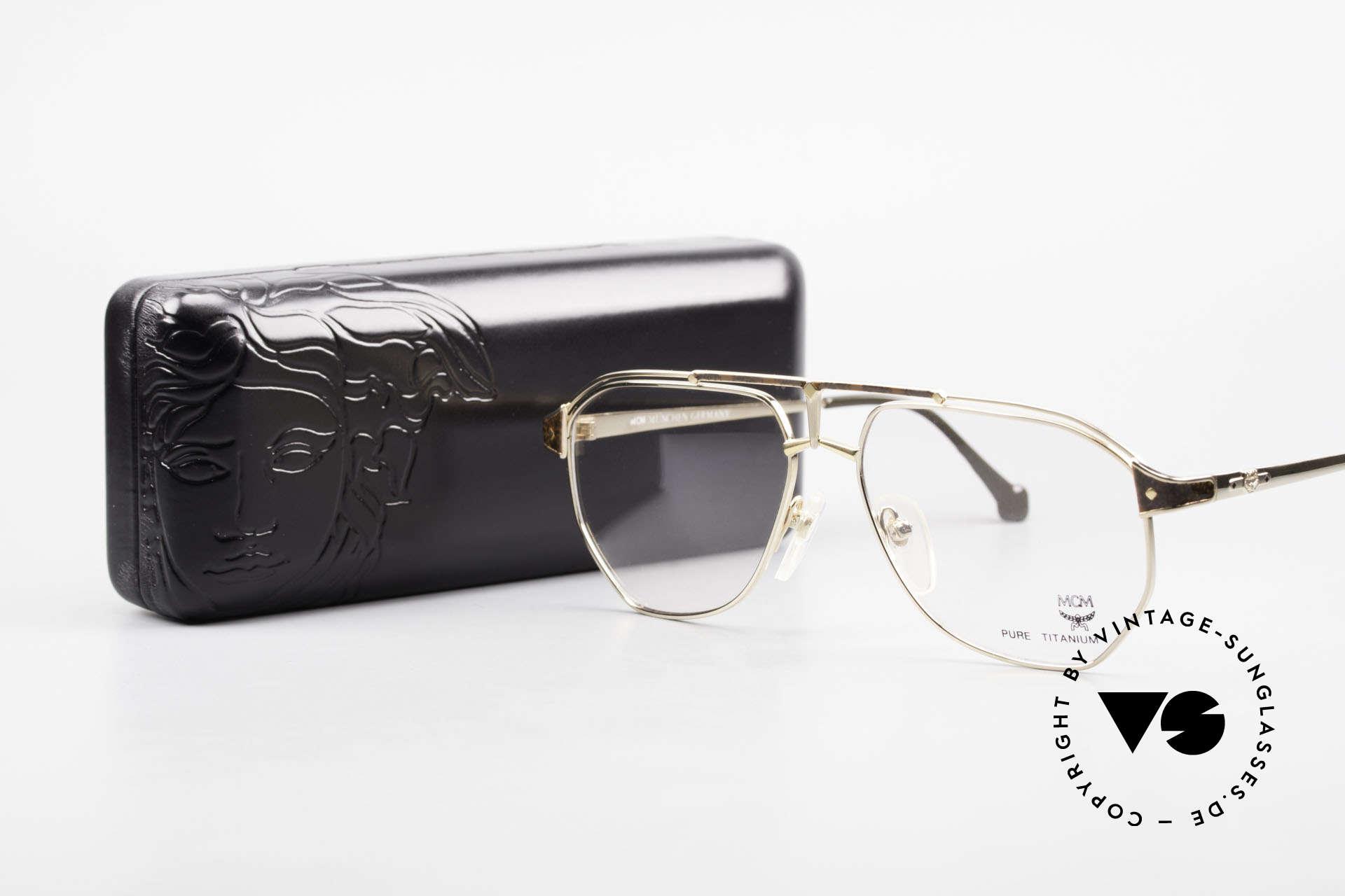 MCM München 6 XL Luxus Vintage Brille 90er, Größe: extra large, Passend für Herren