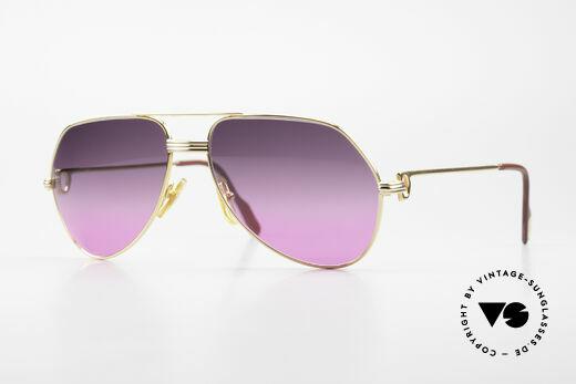 Cartier Vendome LC - M 80er Sonnenbrille Pilot Luxus Details