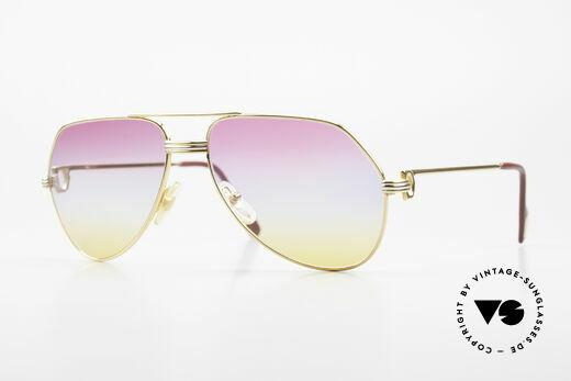 Cartier Vendome LC - M 80er 90er Aviator Sonnenbrille Details