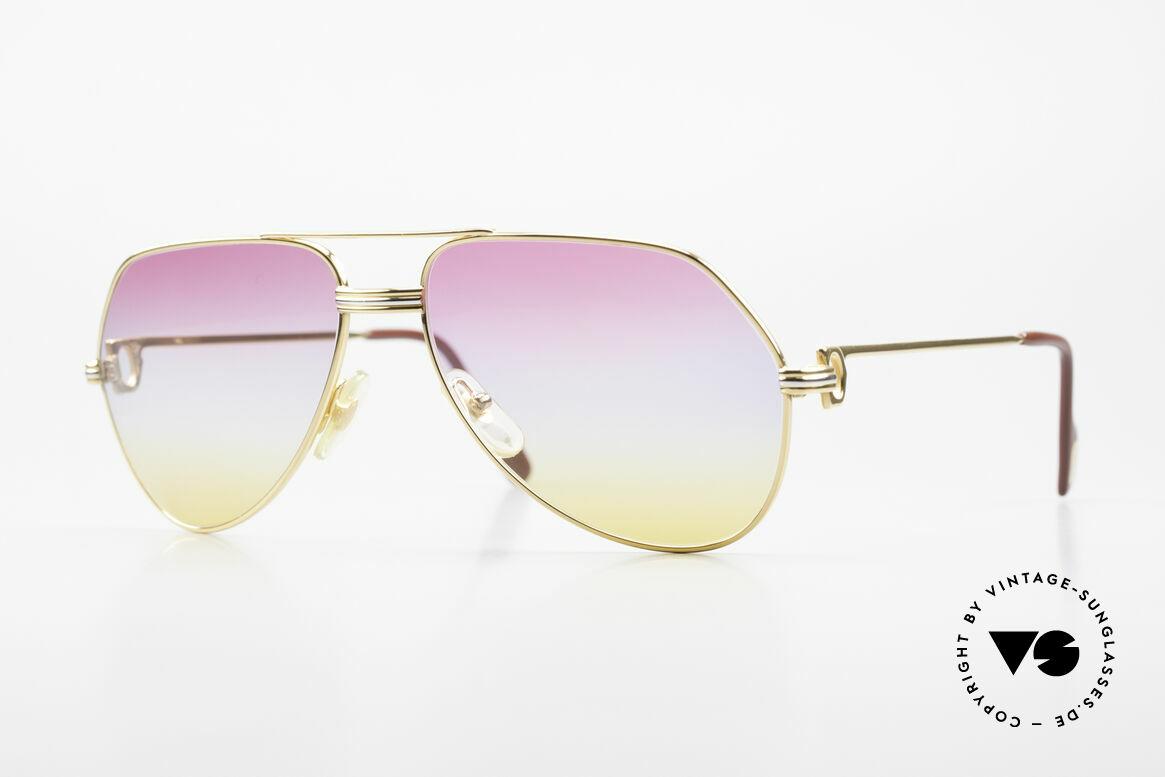 Cartier Vendome LC - M 80er 90er Aviator Sonnenbrille, Cartier Vendome Aviator Sonnenbrille; 80er / 90er Jahre, Passend für Herren und Damen