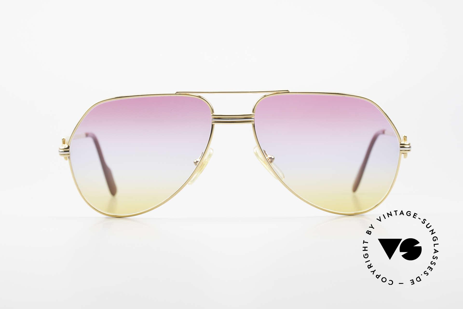 Cartier Vendome LC - M 80er 90er Aviator Sonnenbrille, wurde 1983 veröffentlicht und dann bis 1997 produziert, Passend für Herren und Damen