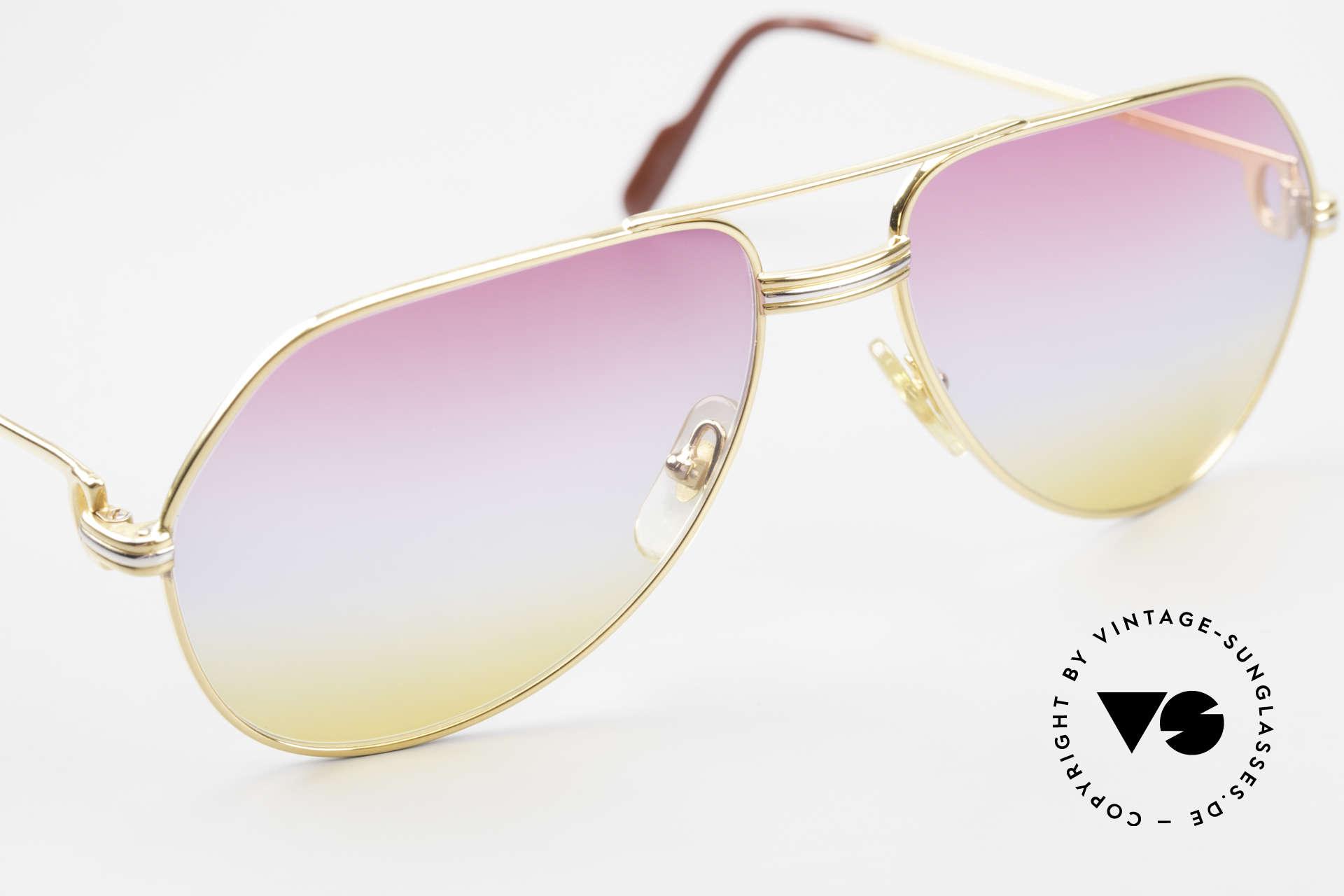 Cartier Vendome LC - M 80er 90er Aviator Sonnenbrille, 2nd hand in einem neuwertigen Zustand + CARTIER Box, Passend für Herren und Damen