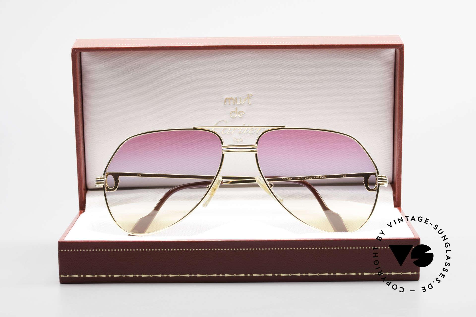 Cartier Vendome LC - M 80er 90er Aviator Sonnenbrille, Größe: medium, Passend für Herren und Damen